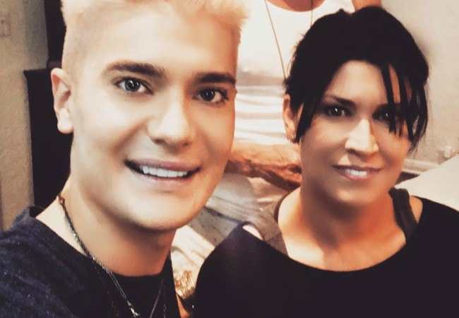 Nancy McKeon and Lars Tangen in a selfie in September 2018