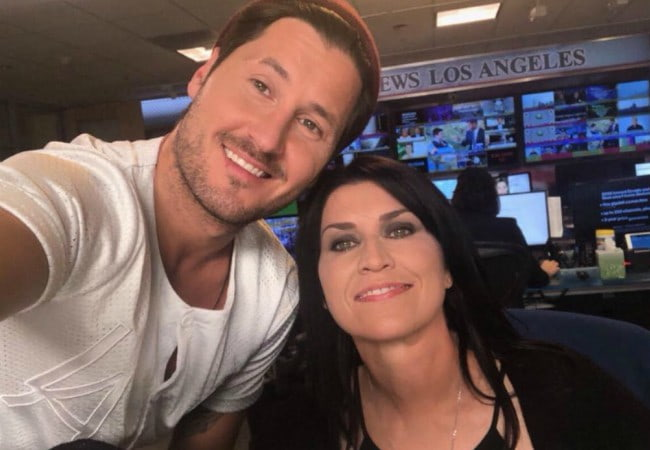 Nancy McKeon and Valentin Chmerkovskiy in a selfie in September 2018