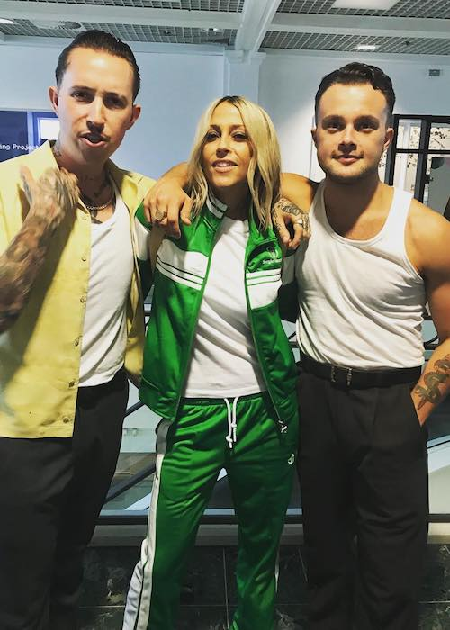Nicole Appleton with Slaves band in July 2018