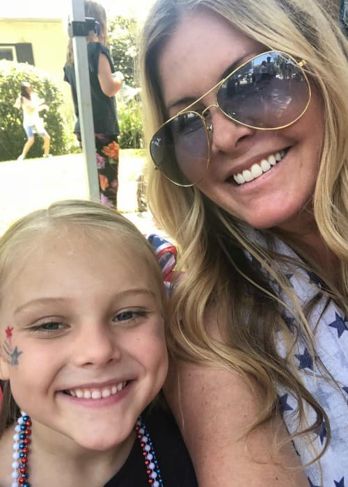 Nicole Eggert in a selfie with her daughter as seen in July 2018