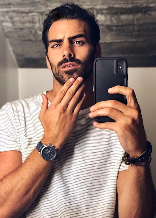 Nyle DiMarco in a bathroom selfie in Los Angeles, California in April 2018