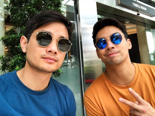 Osric Chau (Left) in a selfie with Yoshi Sudarso in September 2018