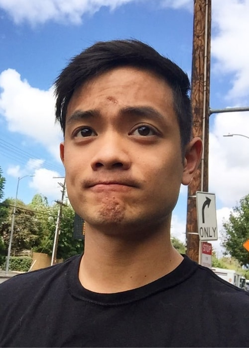 Osric Chau in a selfie in Los Angeles, California in September 2016