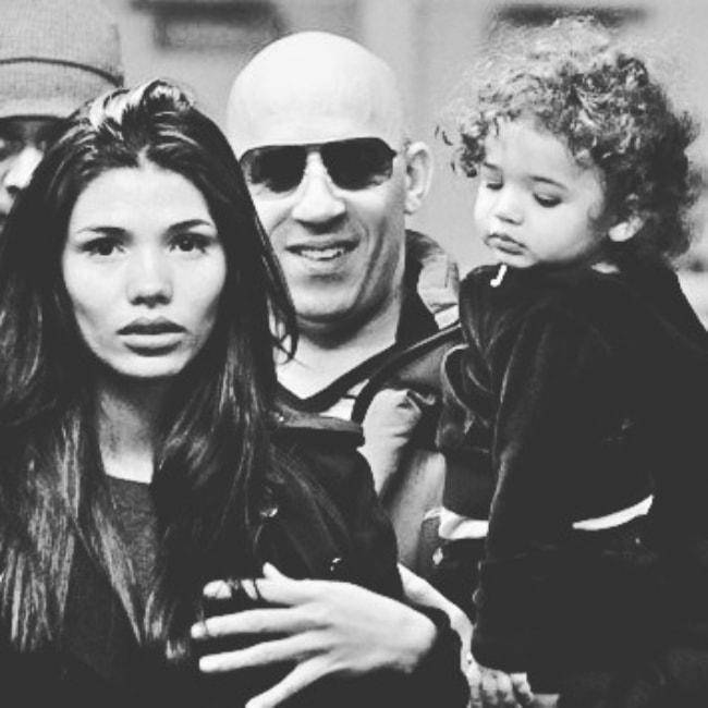 Paloma Jiménez as seen with her family