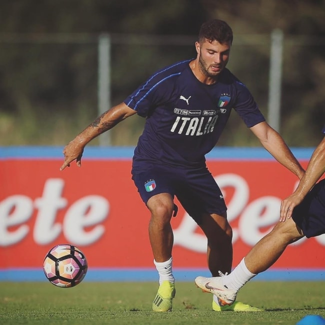 Patrick Cutrone as seen in Cagliari, Italy in September 2018