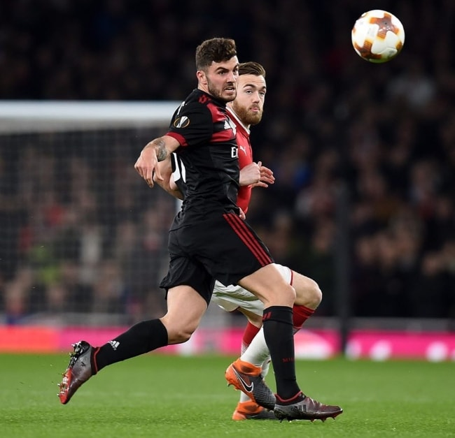 Patrick Cutrone playing fiercely in a match in March 2018