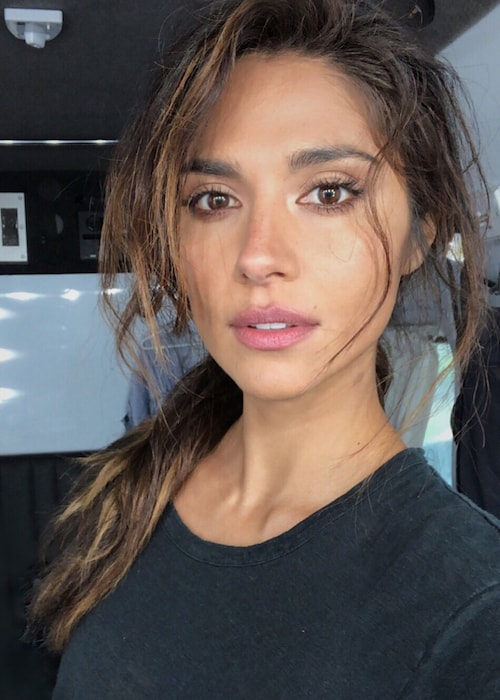 Pia Miller showing her hair done by Richard Kavanagh in August 2018