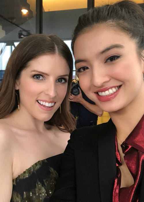 Raline Shah (Right) and Anna Kendrick in a selfie in August 2018