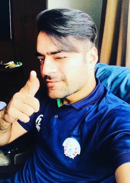 Rashid Khan in a selfie in June 2018