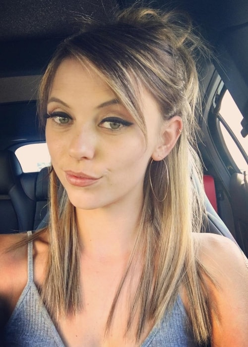 Riley Voelkel in a selfie in June 2017