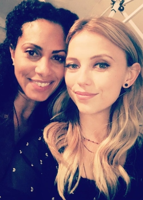Riley Voelkel in a selfie with Christina Moses in July 2018
