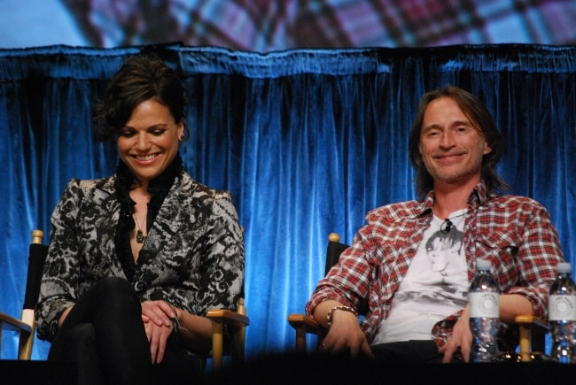 Robert Carlyle as seen with Lana Parrilla during an event