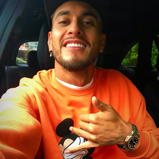 Roberto Pereyra in a car selfie in August 2018