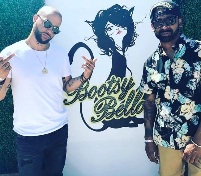 """Sky Blu (Left) with Nate aka """"Reek"""" at Coachella 2017"""
