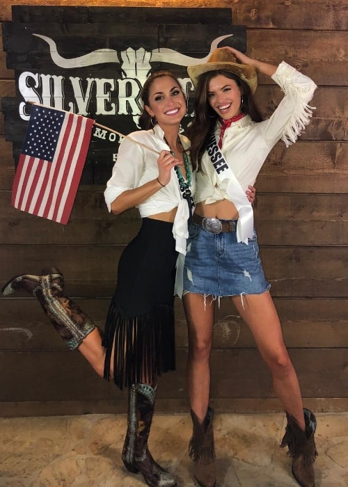 Sofie Rovenstine (Right) with Alexandra Harper at Silver Star Smokehouse & Saloon in May 2018
