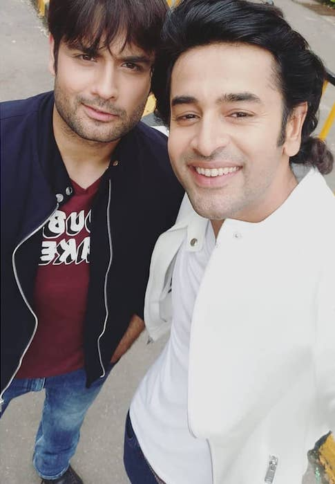Vivian Dsena with Shashank Vyas in a selfie