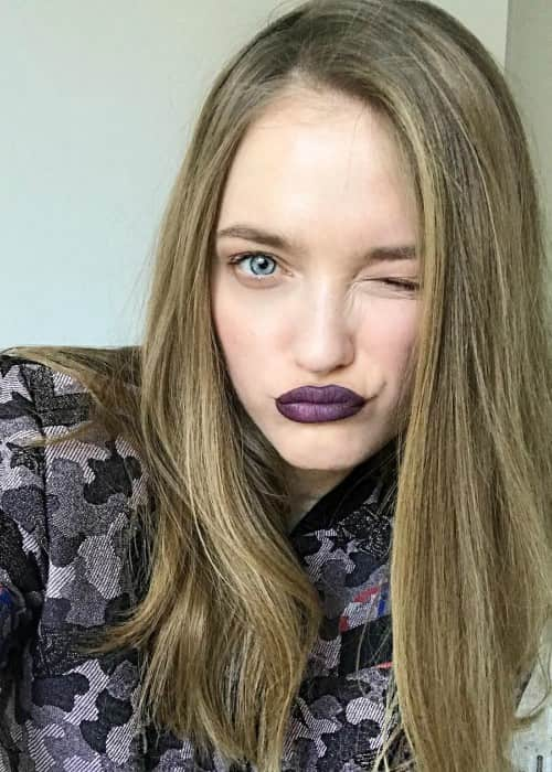 Vlada Roslyakova in an Instagram selfie as seen in April 2018