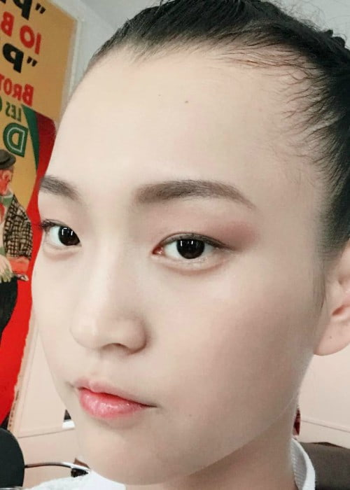 Wangy Xin Yu in an Instagram selfie as seen in April 2017