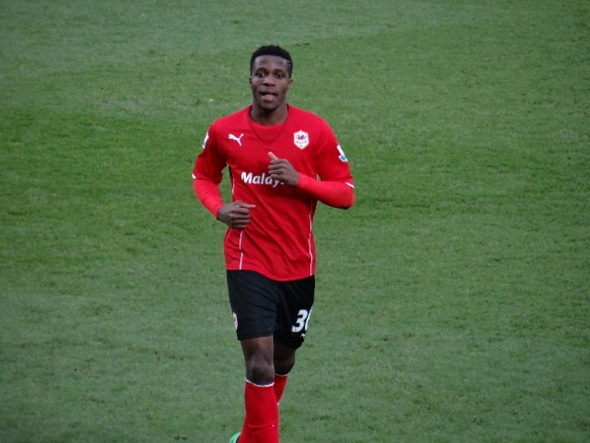 Wilfried Zaha as seen while playing for Cardiff City in February 2014