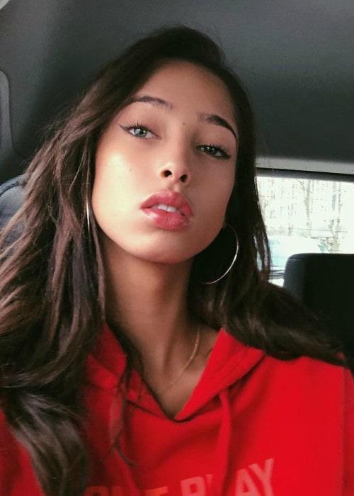 Yasmin Wijnaldum in a selfie in December 2017