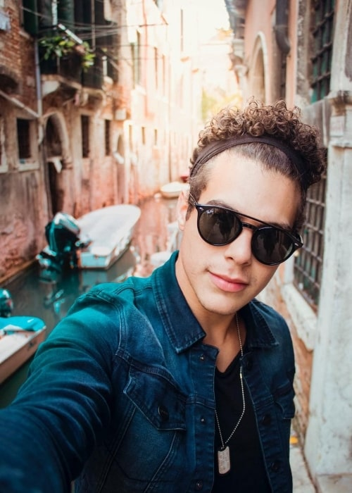 Zabdiel de Jesús in a selfie in Venice, Italy in October 2017