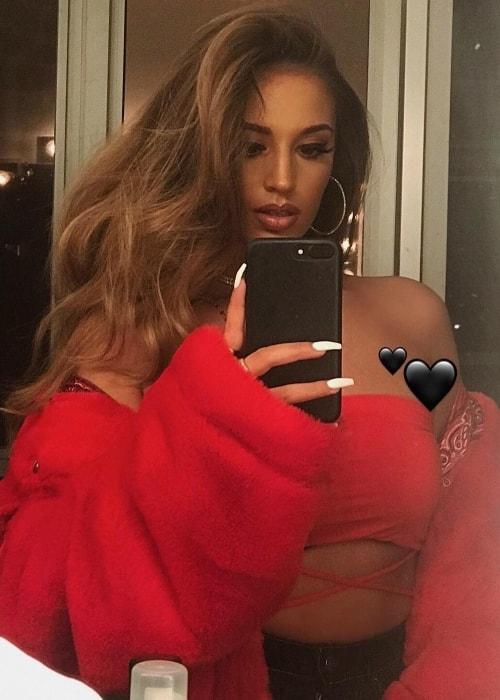 Alina Baraz in a mirror selfie in November 2017