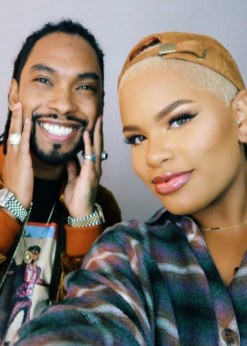 Alissa Ashley and Miguel as seen in December 2017