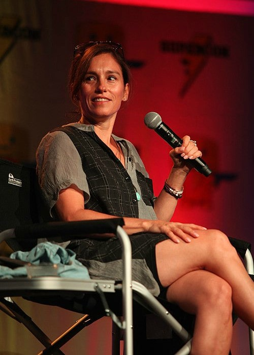 Amy Jo Johnson as seen in July 2018