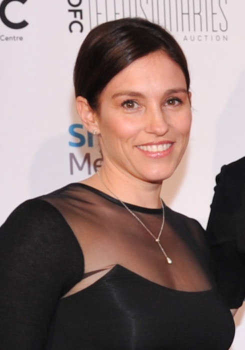 Amy Jo Johnson during an event in February 2015