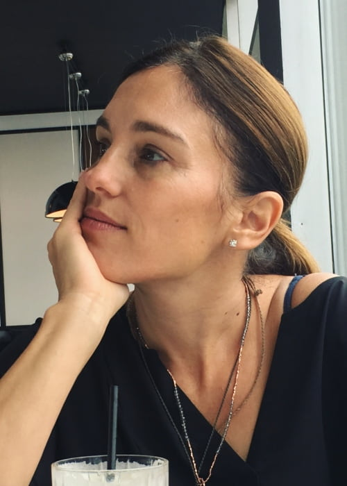 Amy Jo Johnson in an Instagram post as seen in October 2018