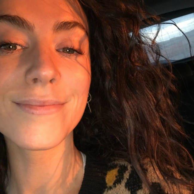 Amy Manson in an Instagram selfie as seen in March 2018