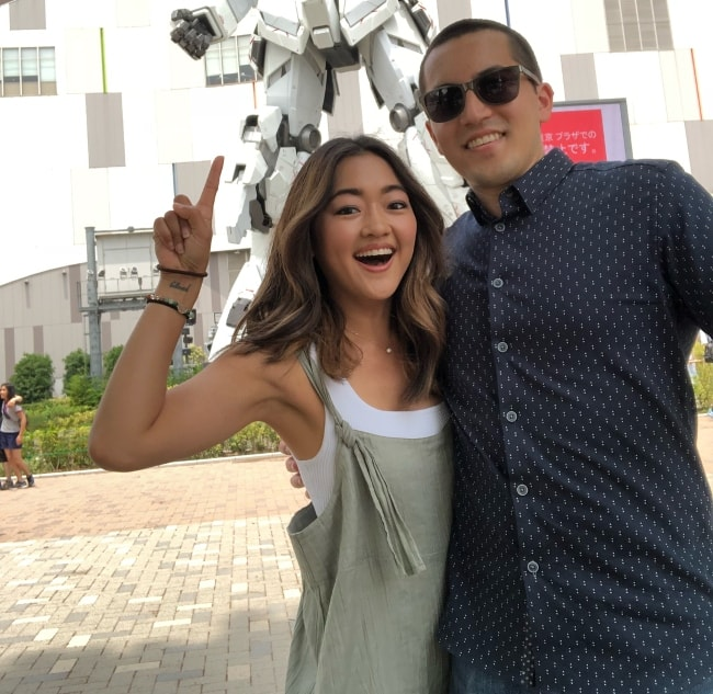 Amy Okuda in Japan with Mitchell Hashimoto in June 2018