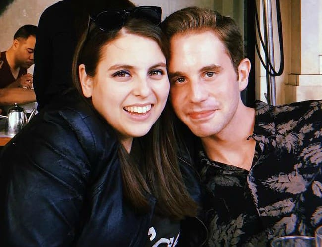 Beanie Feldstein and Ben Platt as seen in September 2018