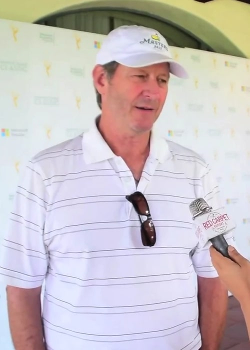 Brett Cullen during an interview at the 16th Annual Emmys Golf Classic in August 2015