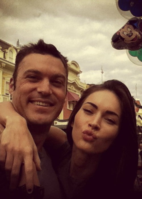 Brian Austin Green and Megan Fox in a selfie in September 2014
