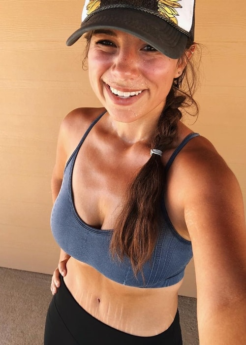 Brittany Williams in an post-run selfie during a weekend in September 2018