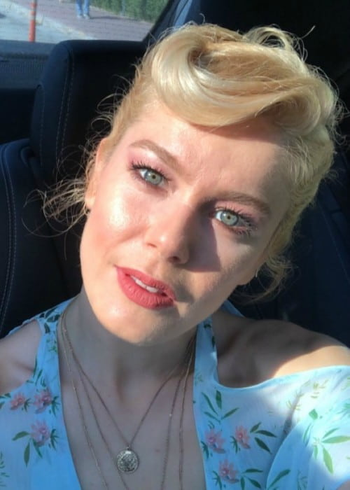 Burcu Biricik in an Instagram selfie as seen in July 2018