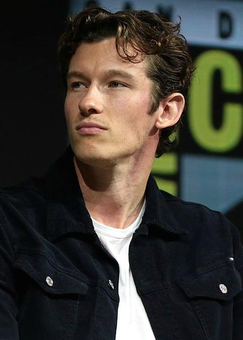 Callum Turner speaking at the 2018 San Diego Comic-Con