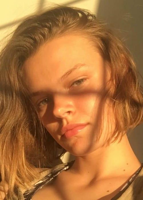 Cara Taylor in a selfie as seen in June 2017