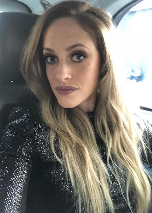 Carly Chaikin in a car selfie in June 2018