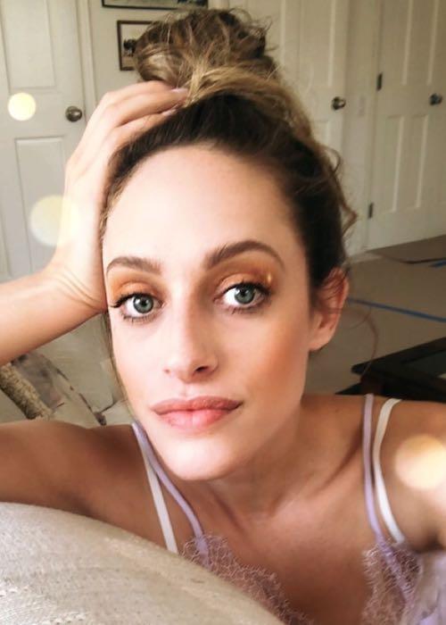 Carly Chaikin in an Instagram selfie in August 2018