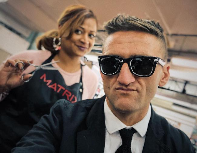 Casey Neistat at Astor Place Hairstylists in April 2018