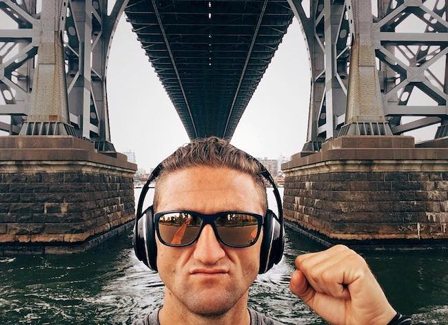 Casey Neistat at Williamsburg Bridge in July 2017