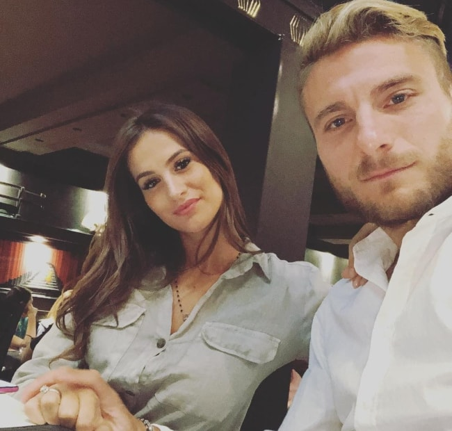 Ciro Immobile with Jessica Melena in August 2018