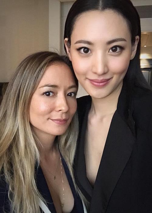 Claudia Kim with Naoko Scintu at London, United Kingdom in August 2018