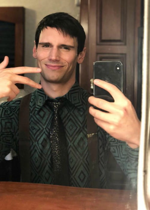 Cory Michael Smith in a selfie in September 2018