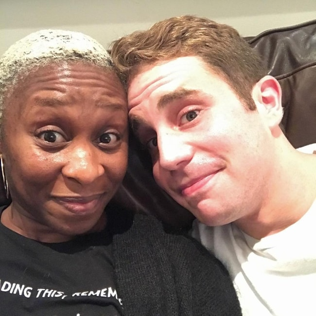 Cynthia Erivo with Ben Platt in September 2017