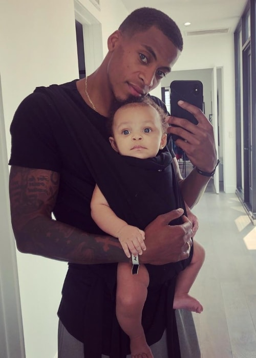 Dana Isaiah in a selfie with his son in September 2018