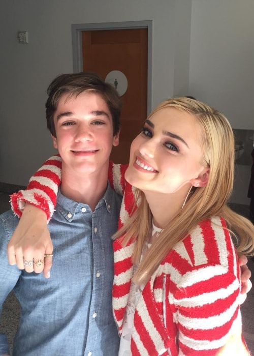 Daniel DiMaggio with Meg Donnelly in February 2018
