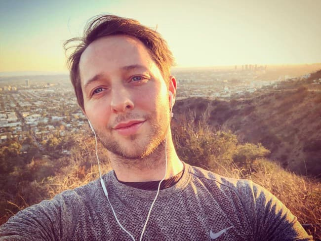 Derek Blasberg in an Instagram selfie as seen in March 2018